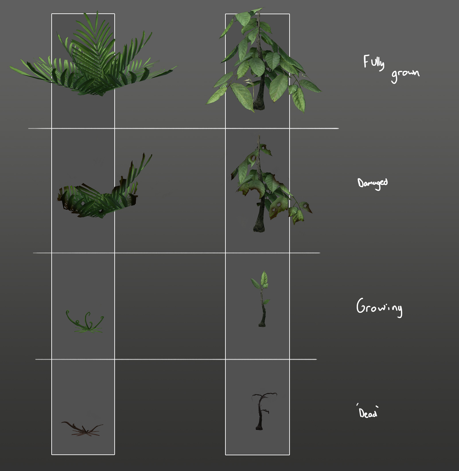 eden star shrubs concept damaged states