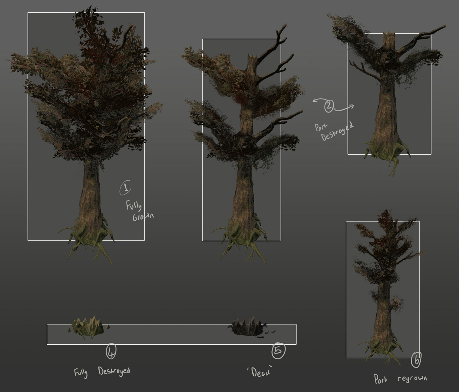 eden star tree concept damaged states
