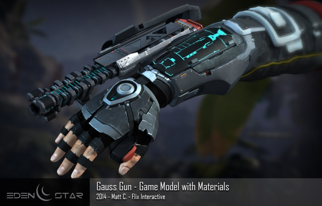 eden star gauss gun model