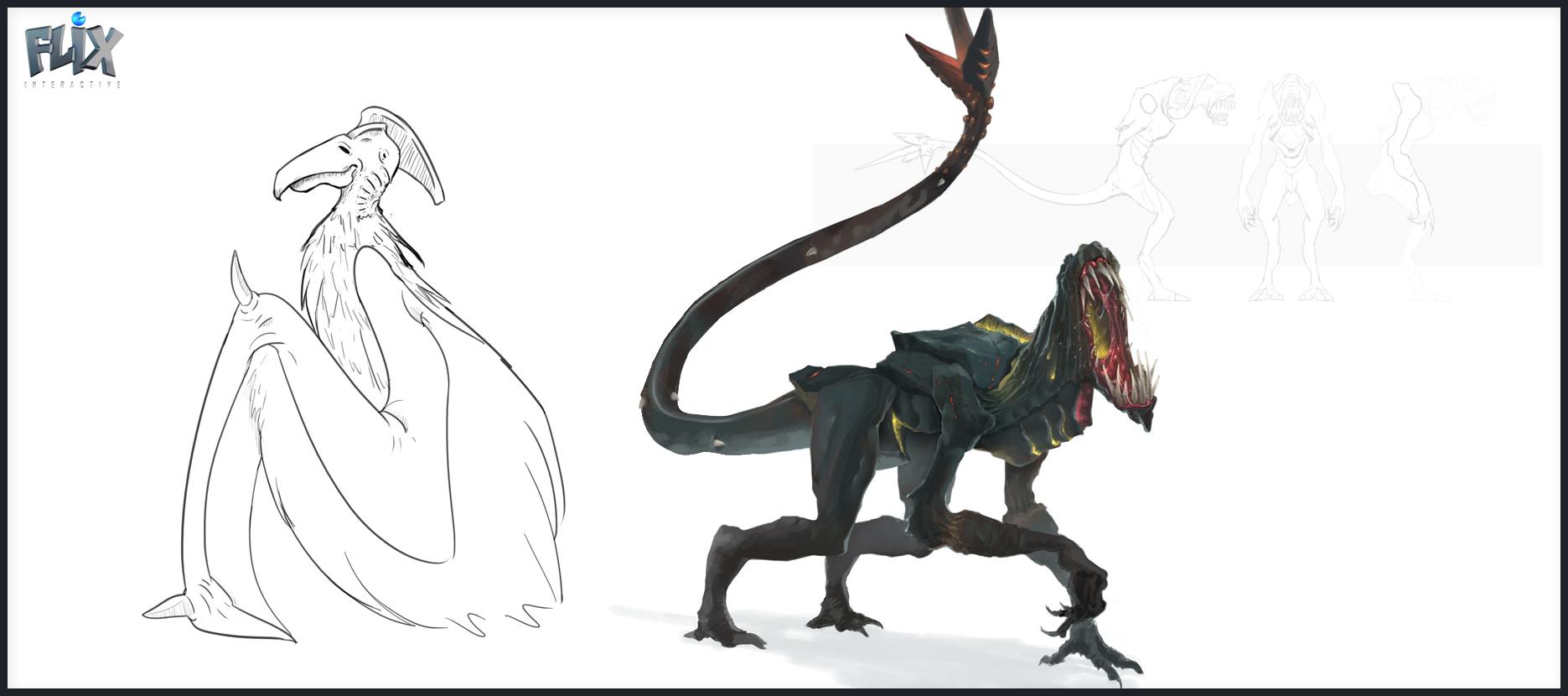 eden star concept creatures savannah terradactil forest stalker